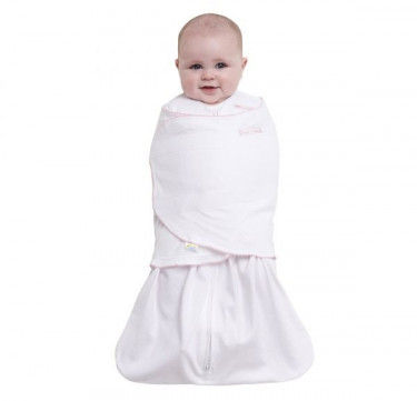 Swaddle Pink Pin Dot