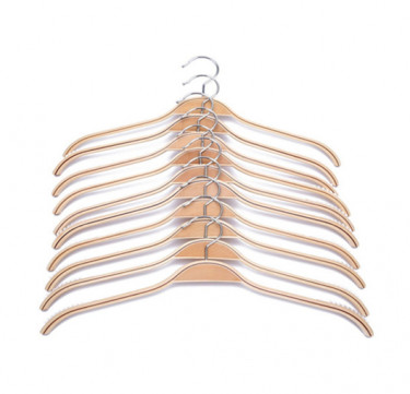 Anti-Slip Wooden Clothes Hanger Pack of 10