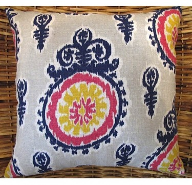 Medallion Ikat Throw Pillow
