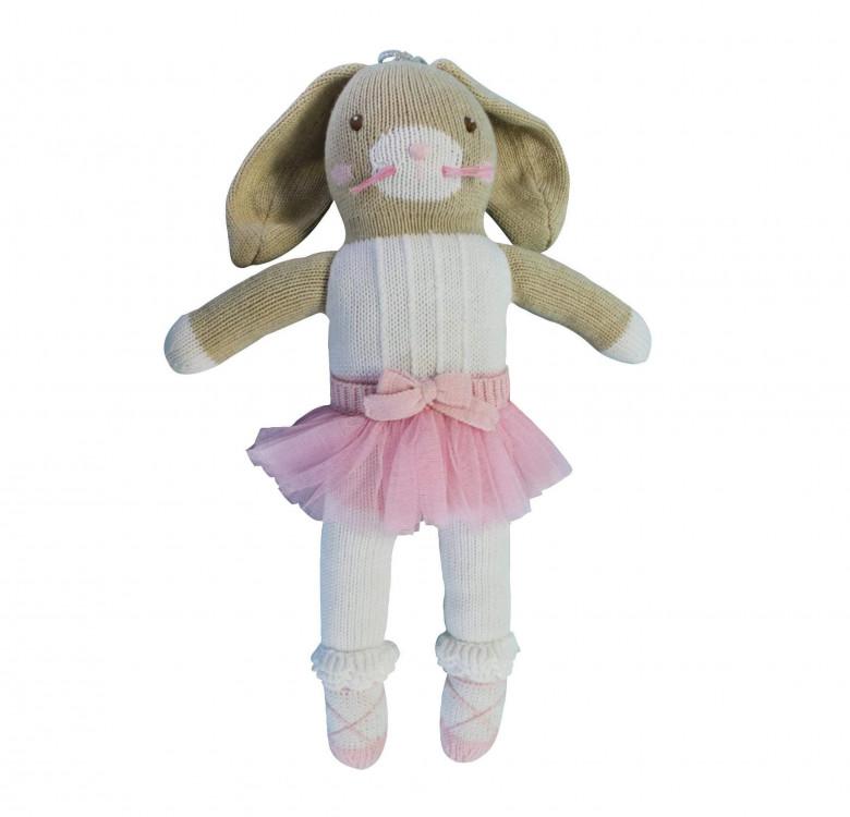 Betsie the Ballerina Bunny Hand-knit Cotton Doll