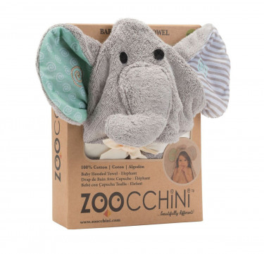 Elle the Elephant Baby Hooded Towel