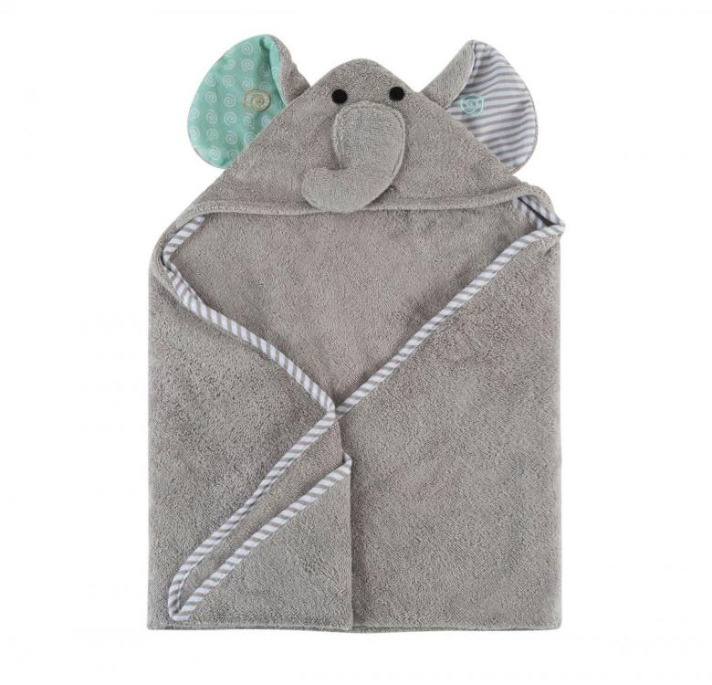 Elle the Elephant Baby Towel Hoodie