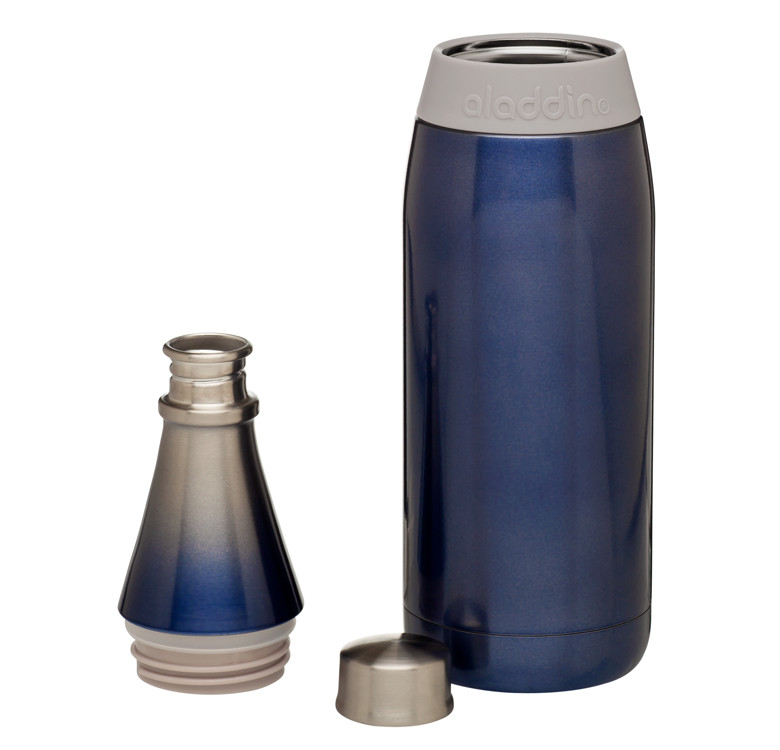 Fresco Twist & Go Vacuum Water Bottle, 20oz (Sapphire)