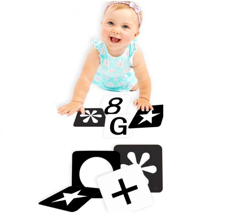 40-Piece Black & White Infant Stimulation Cards (Pre-order)