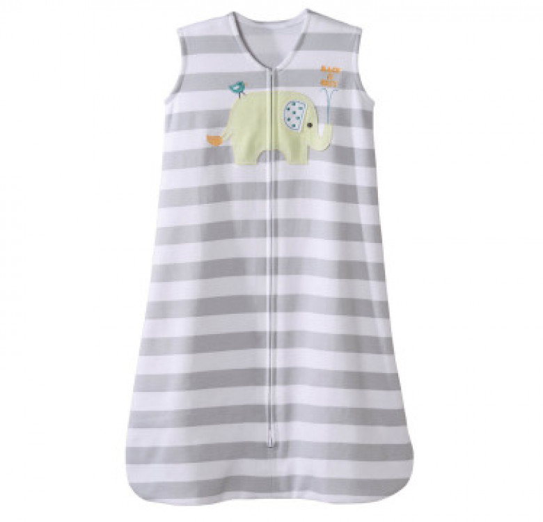 SleepSack Gray Elephant Applique