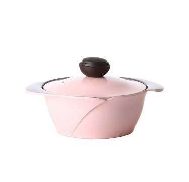 La Rose 20cm Covered Casserole with Aluminum Lid
