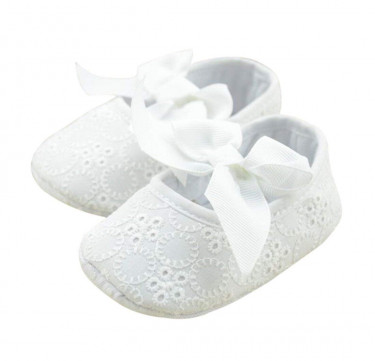 Dainty Lace & Bow Soft Shoes