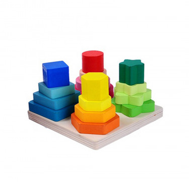 Wooden Shapes Stacking & Sorting Toy