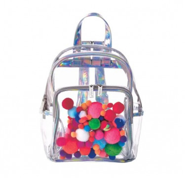 Clear Backpack (Pompom)
