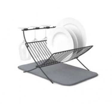 XDRY Dish Drying Rack and Microfiber Dish Mat