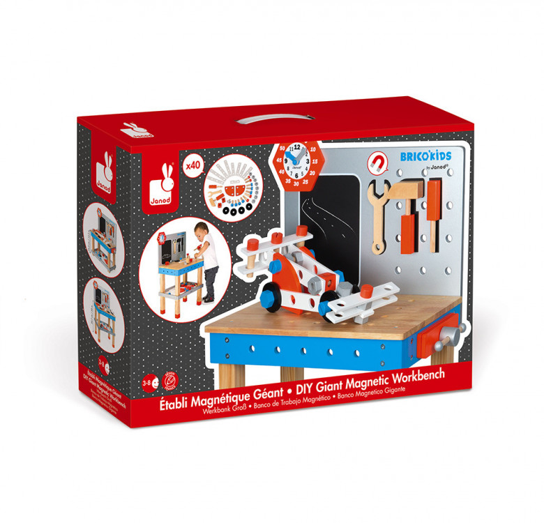 Brico'Kids Diy Giant Magnetic Workbench