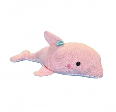 Dolly the Dolphin Hand-Knit Rattle