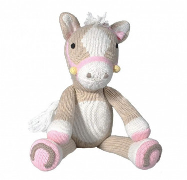 Josie the Pony Hand-knit Cotton Doll