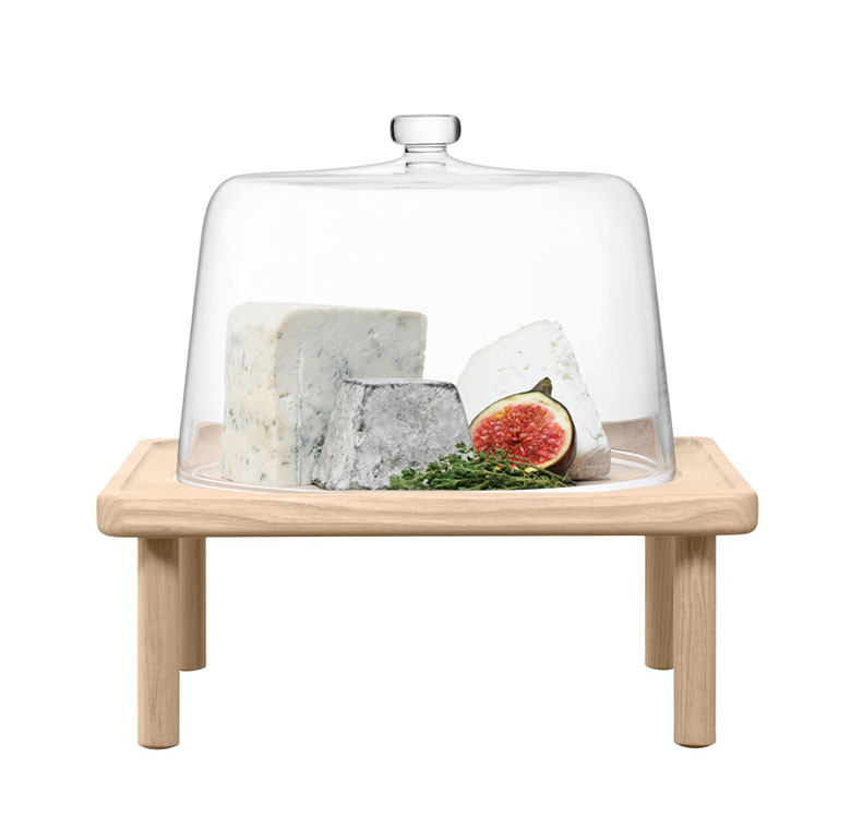 25cm Stilt Cheese Dome & Ash Stand