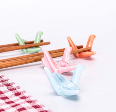 Crane Chopstick Rest Set of 4