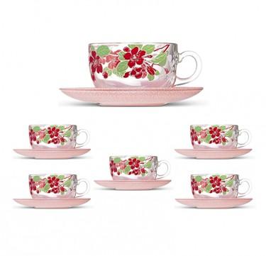 Japanese Tree 7oz Cup & 14cm Saucer Set
