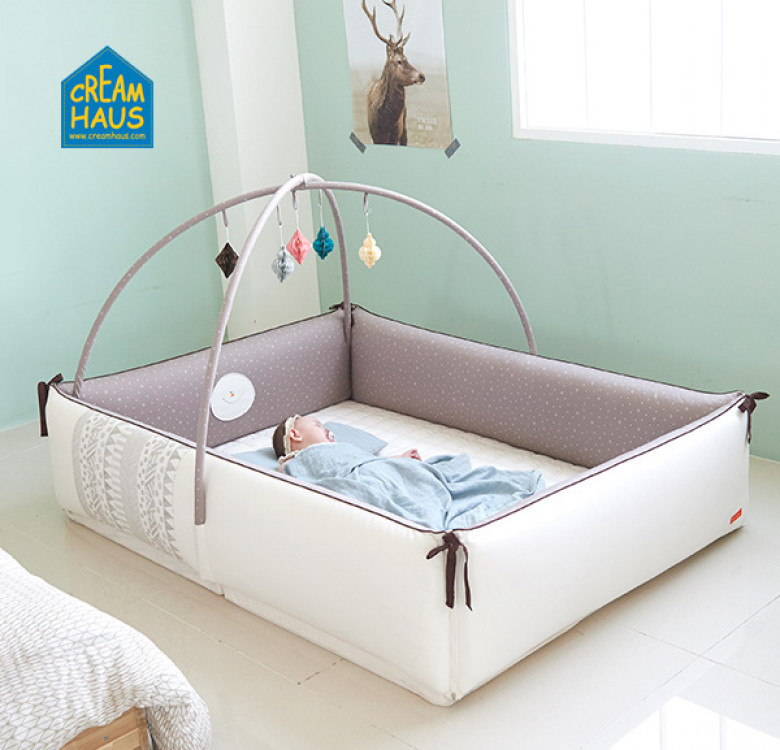 Cream Inua Bumper Bed