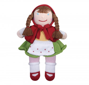 Ruby Red Riding Hood Hand-knit Cotton Doll
