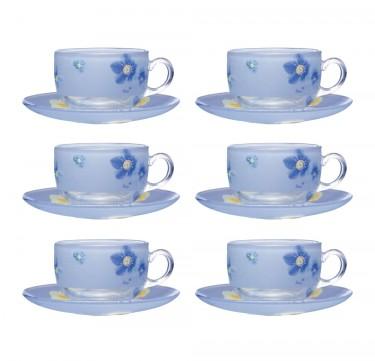 Poeme Blue 7oz Cup & 14cm Saucer Set