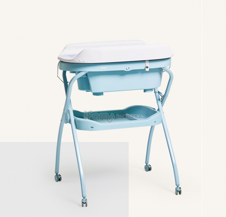 Baby Foldable Standing Bath Diaper Changer