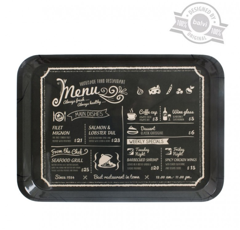 Fresh Menu Tray
