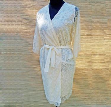 Lauren Knee Length Bridal Robe