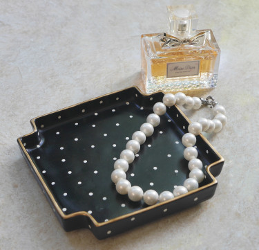 Polka Dot Trinket Tray
