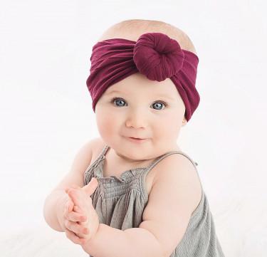 Soft Elastic Baby Bun Headband