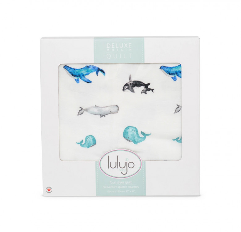 Whales Bamboo Quilt