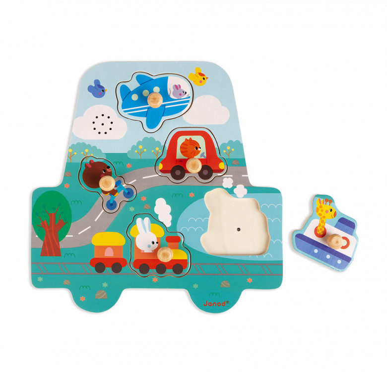 Musical Puzzle Little Racers 5 pieces (Wood)