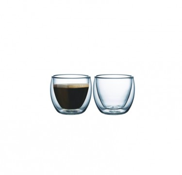 2pc. Double-Walled Coffee Cup Set