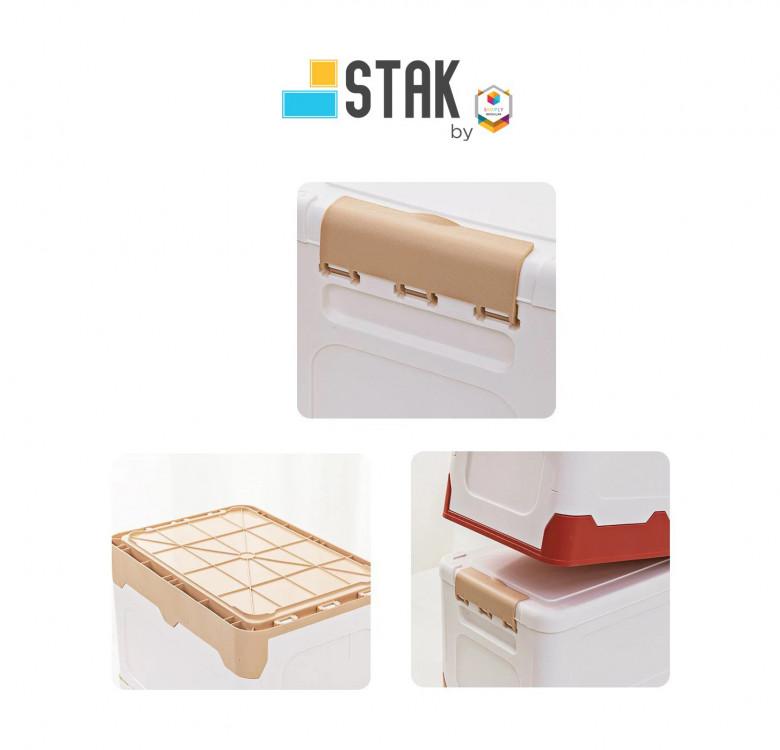 Durastak Foldable Storage Box Size M - 19L Capacity