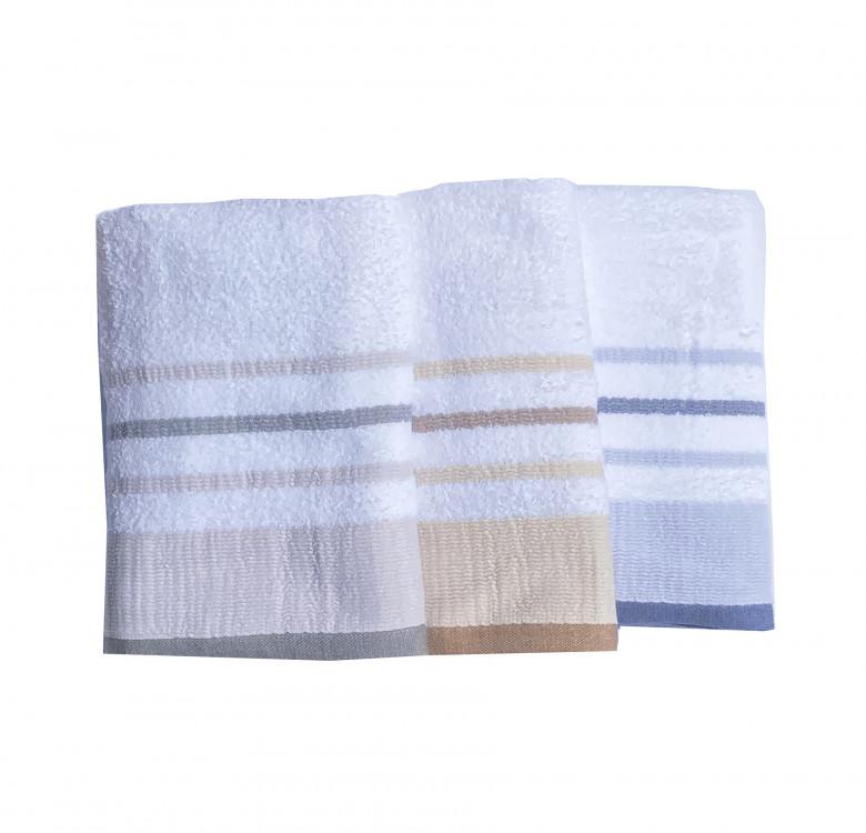 Luxury Bath Towel Set of 2 (Gray Stripes)