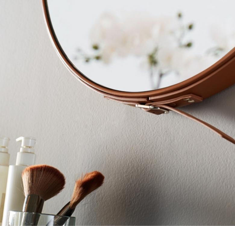 Bergen Leather Strap Mirror