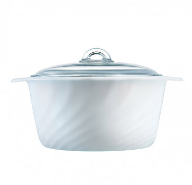 Vitro 4 Liters Trianon White Casserole with lid