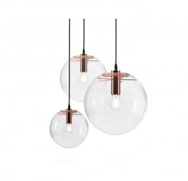 Lisa Glass Copper Pendant Light