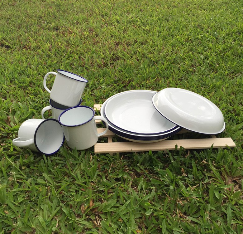 Enamel Dinner Set