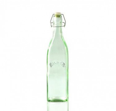 Kilner Clip Top Round Bottle 1L (Green)