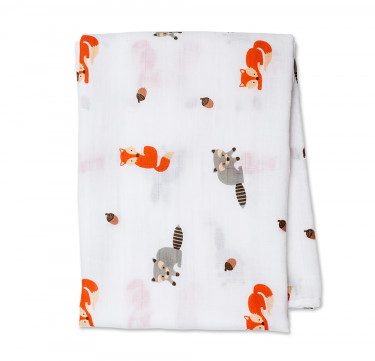 Forest Friends Cotton Muslin