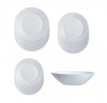 Harena 19-Piece White Dinner Set