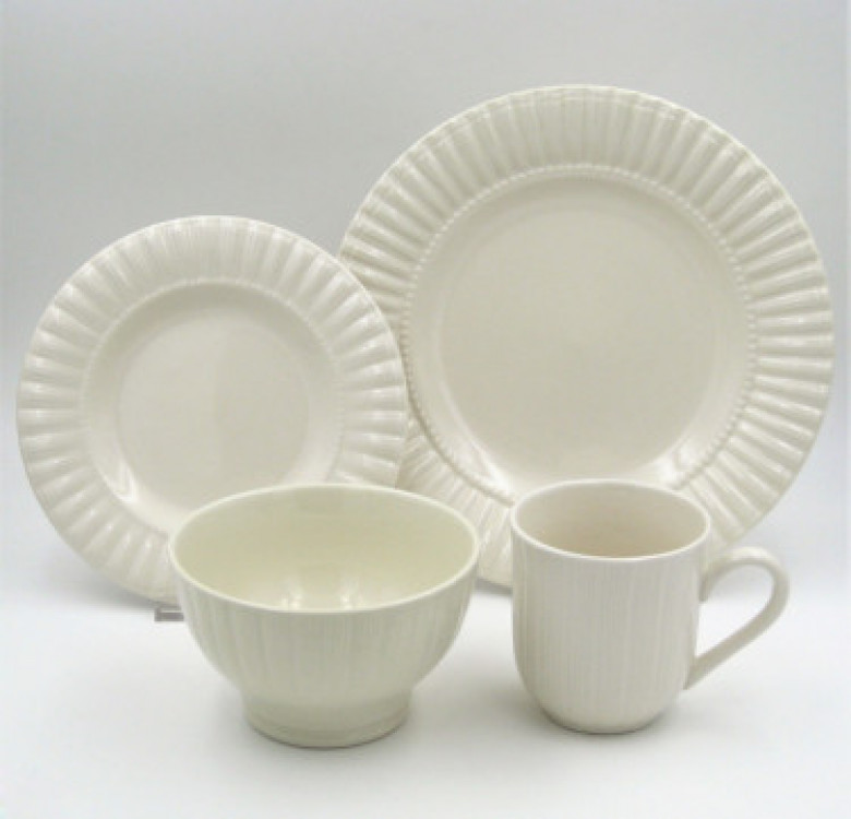 16-Piece Maison White Stoneware Dinner Set