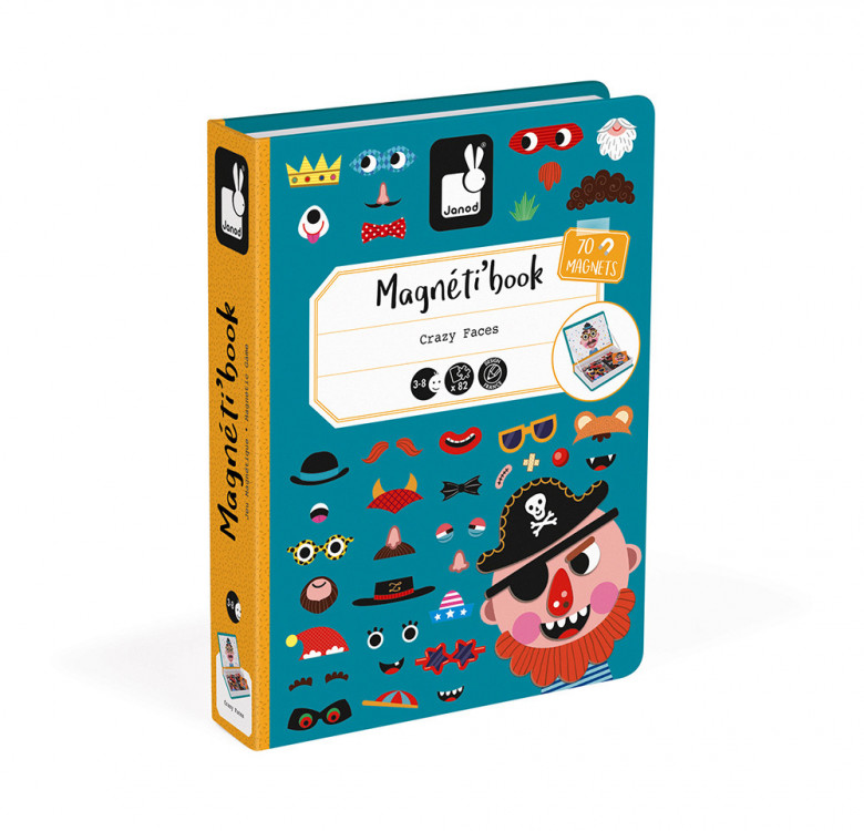 Boy's Crazy Faces Magneti'book