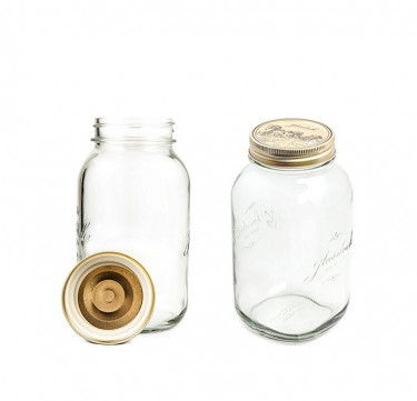 2-Piece Set Mason Jar
