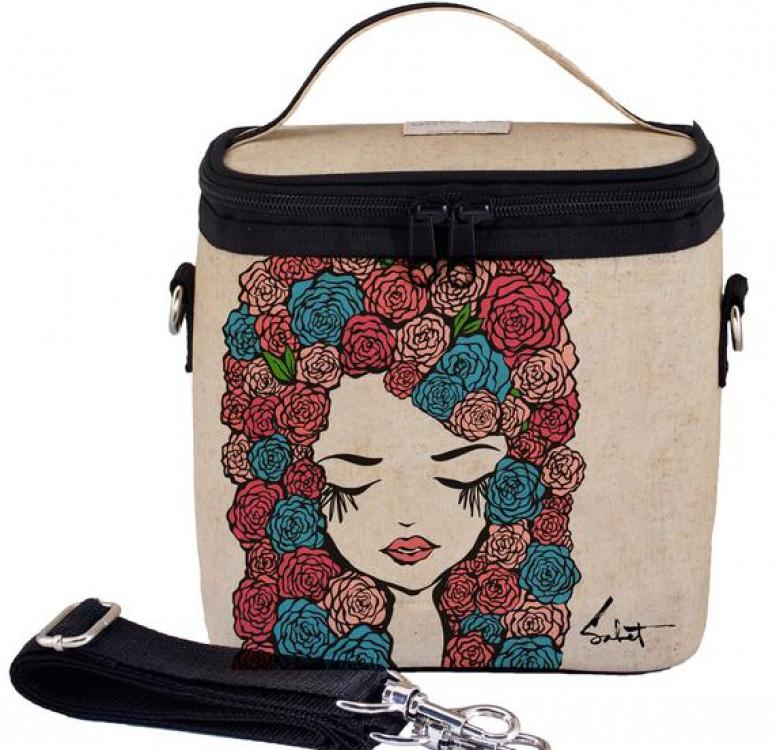 Large Cooler Bag (Pixopop Roses Girl)