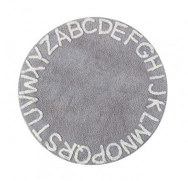 Round Alphabet Rug