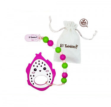 Teether with Clip-on (Dragon Fruit)
