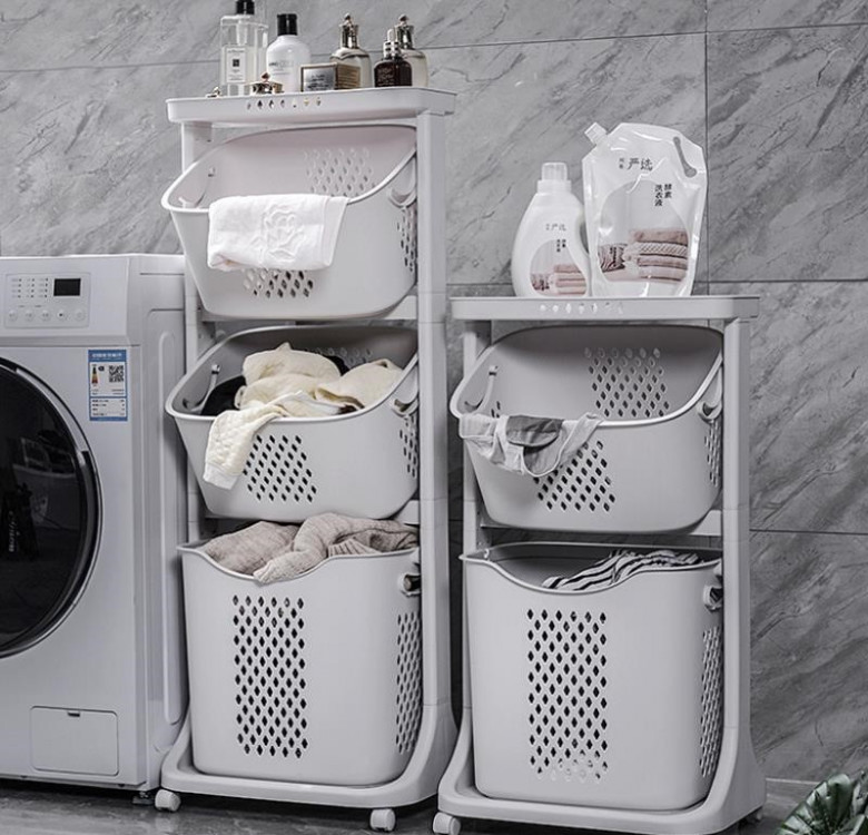 3-Layer Laundry Basket & Trolley