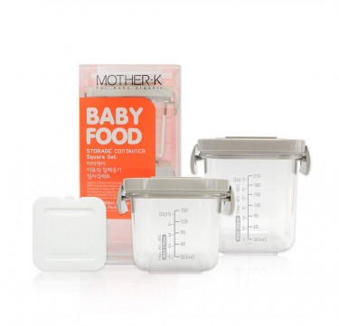 Baby Food Storage Container (Square Set)