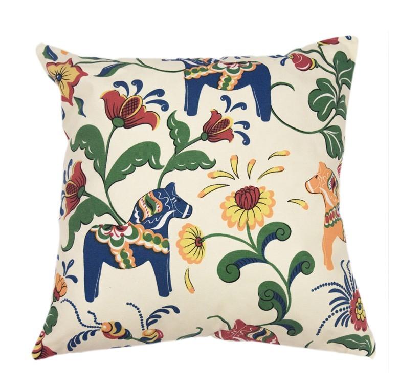 lumbar embroidered pillow products equestrian animal tan burlap horse pillows grande