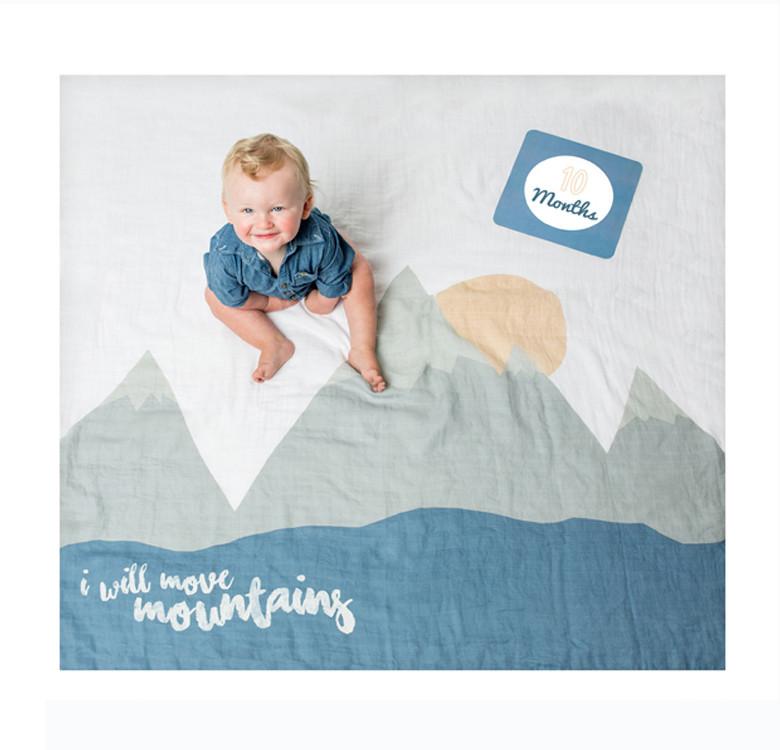 I Will Move Mountains Milestone Blanket & Card Set